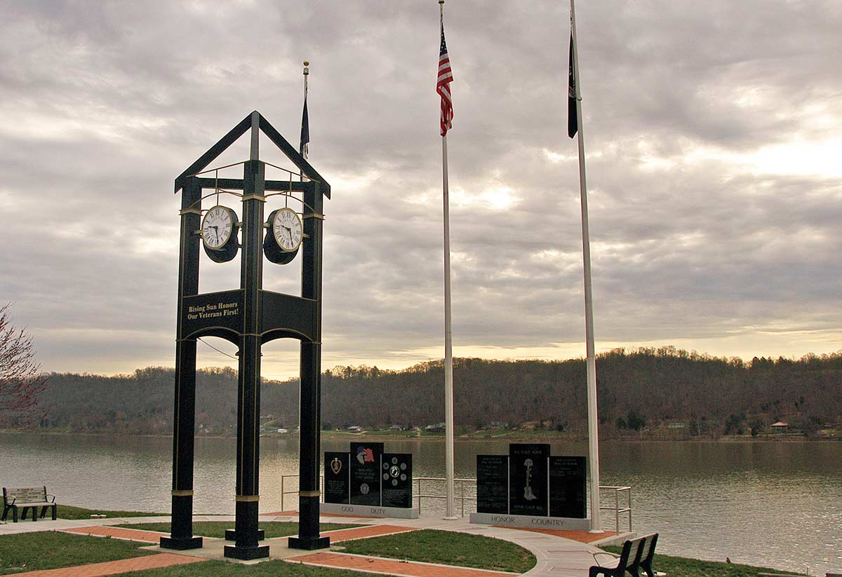 Veteran's Memorial at Rising Sun